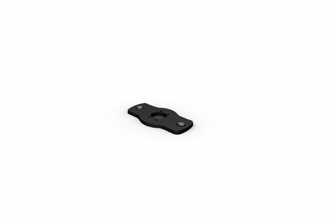 Rise F080 Surface Mount Plate - Black A