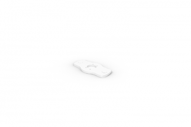 Rise F080 Surface Mount Plate - White A