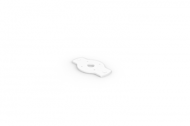 Rise F170 Surface Mount Plate - White A