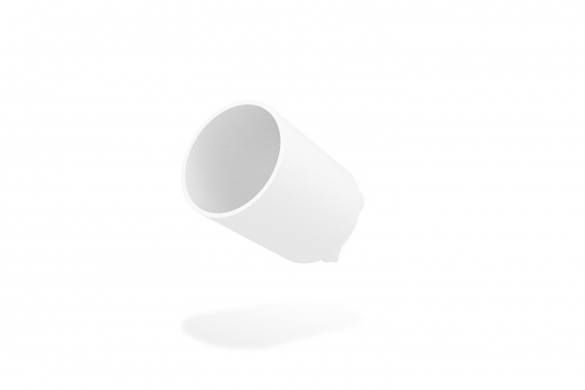 Rise F080 Full Snoot Round - White