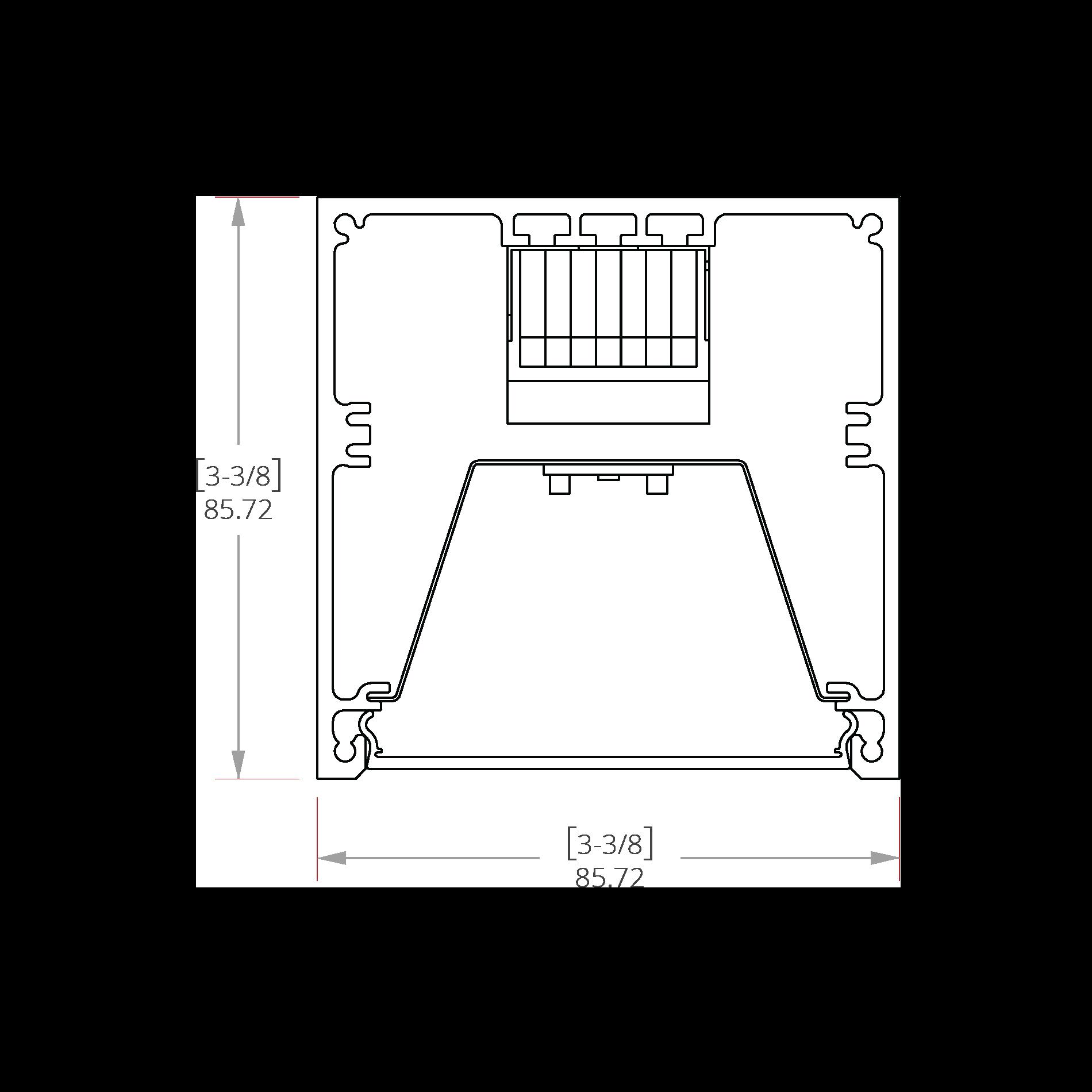Nitrogen 3 Line Drawing