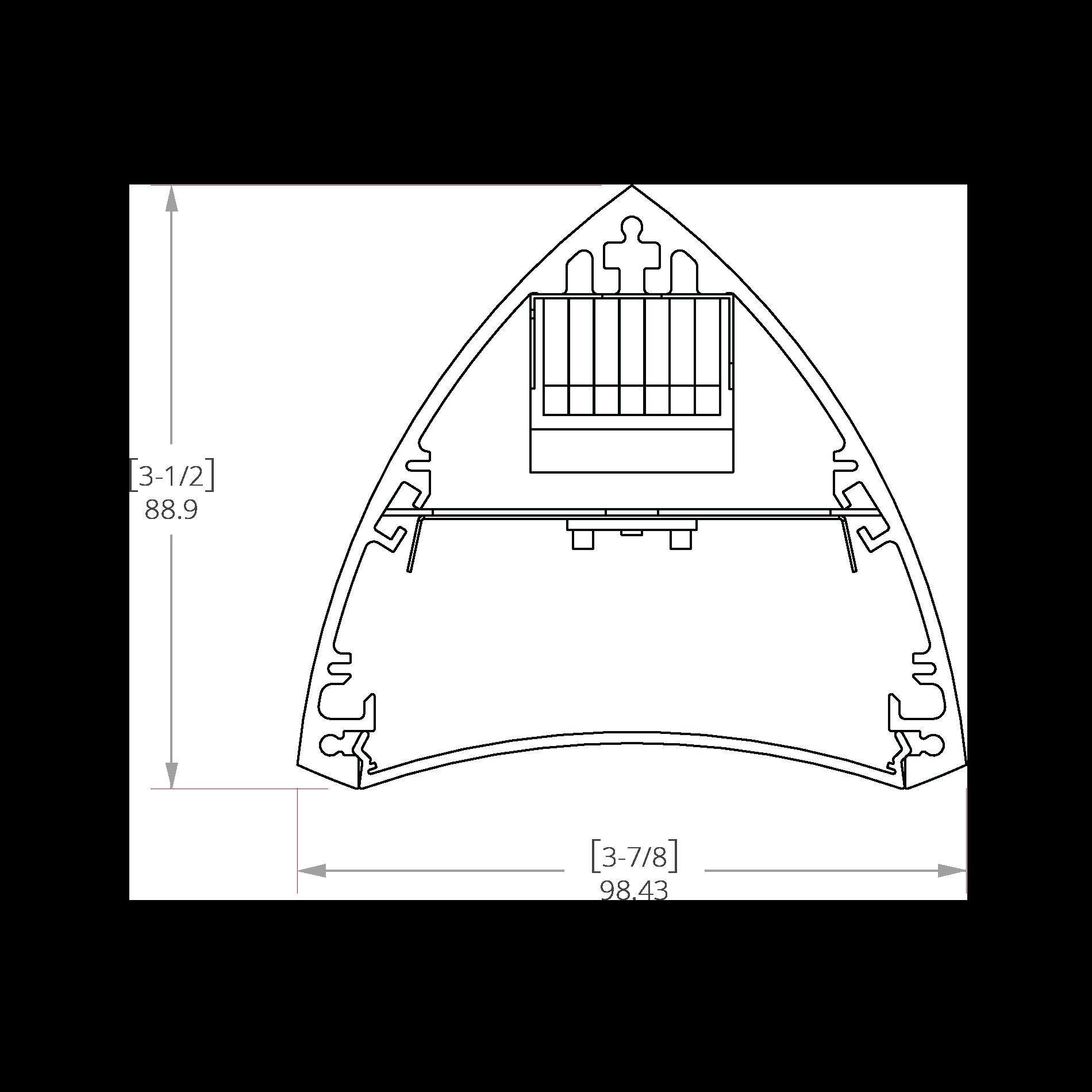 Trinium 3 Line Drawing